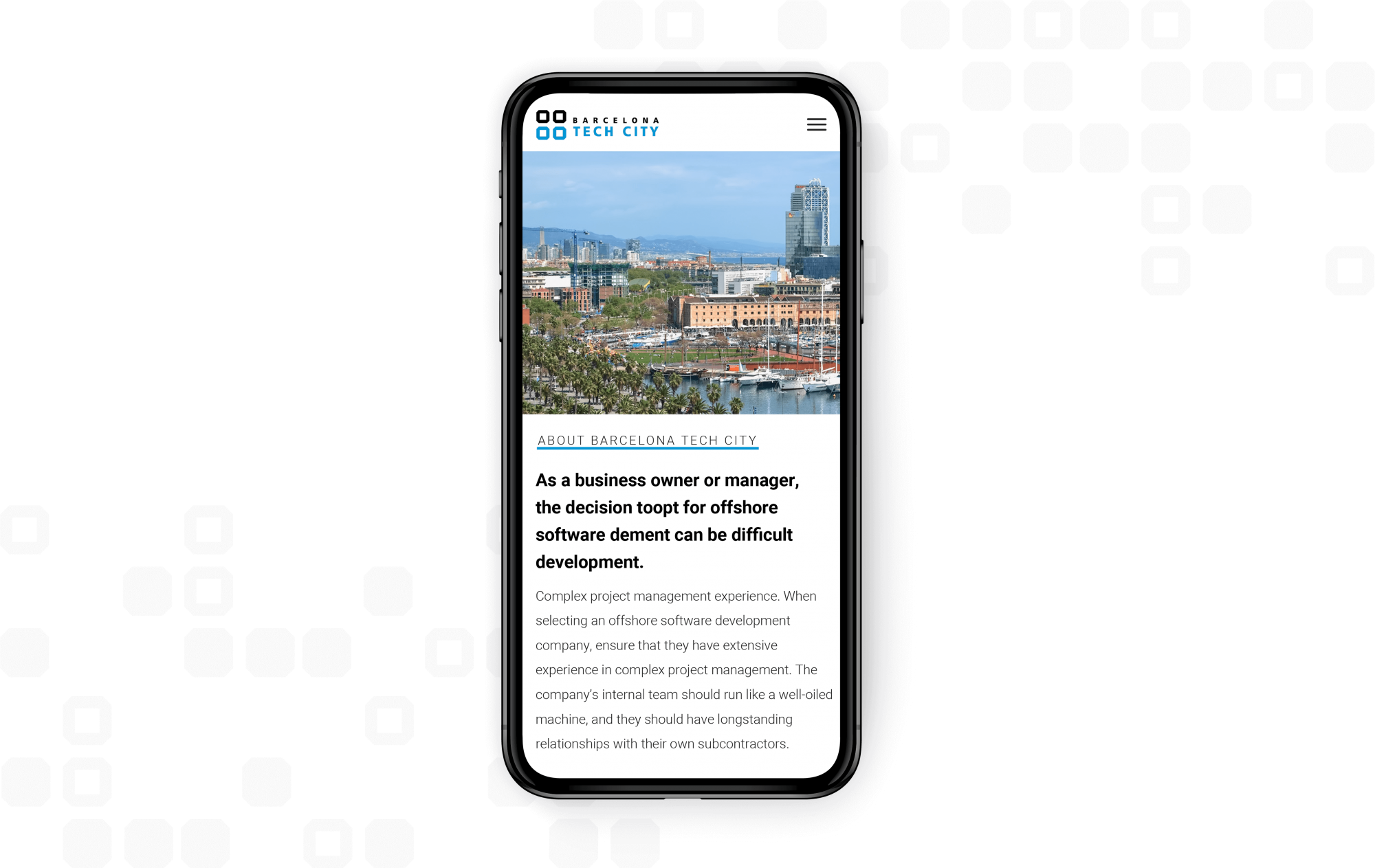 Barcelona Tech city responsive